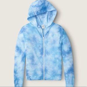 PINK Tie Dye Full-Zip Sweatshirt